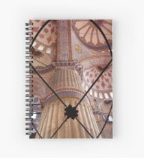 The Blue Mosque Interior Enlightened Spiral Notebook