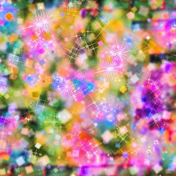 Multicolored defocused bokeh pattern. Abstract background. by IaroslavB