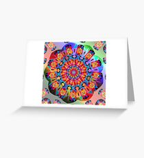 Colors and Blooms Greeting Card