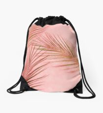 Palm Leaves Drawstring Bag