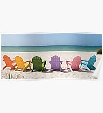 Rainbow Chairs Poster