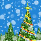 Decorated Holiday Tree by WayneYoungArts