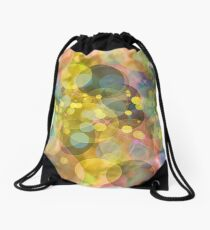 Multicolored defocused bokeh pattern wallpaper. Abstract Background.  Drawstring Bag
