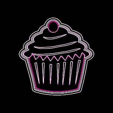 Neon Pink Cupcake by EvePenman