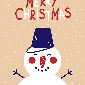 Merry Christmas Snowman by ExpApparel
