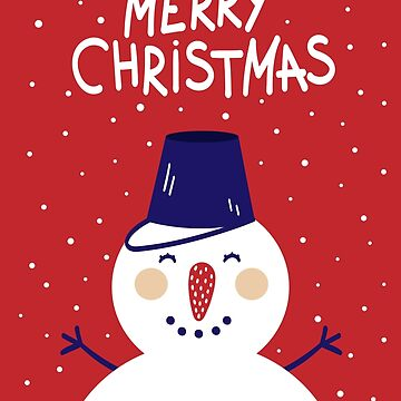 Merry Christmas Snowman red by ExpApparel