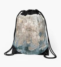 Blue Grey Abstract Drawstring Bag