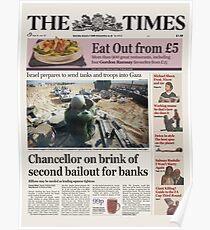 Chancellor on Brink - Bitcoin Genesis Block Poster