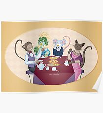 Animal Tea Party Poster