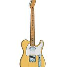 Electric Guitar Vintage by Yaus