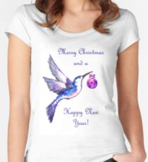 Christmas Bird Fitted Scoop T-Shirt