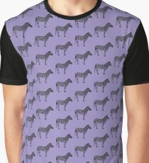 Lilac zebra pattern Graphic T-Shirt