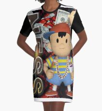 Ness Smash Brothers Melee Earthbound Graphic T-Shirt Dress