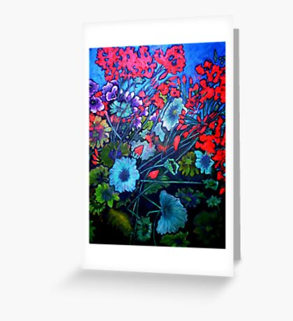 My Garden - Oil Painting Greeting Card