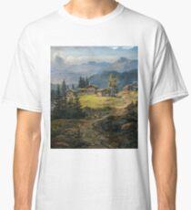 Johan Christian Dahl - View of Øylo Farm, Valdres Classic T-Shirt