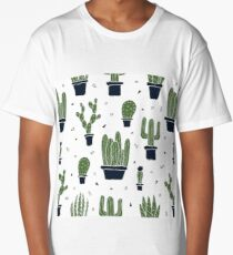 Cactus Pattern  Long T-Shirt