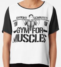 Dwight Schrute's Gym für Muskeln Chiffontop