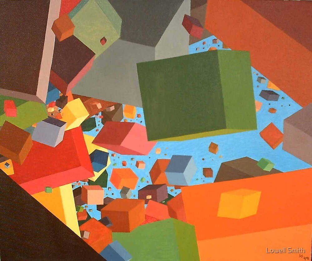 """Floating Cubes""  by Lowell Smith"
