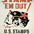 Vintage poster - Stamp 'Em Out by mosfunky