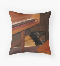 Keyboard and Foot pedals Throw Pillow