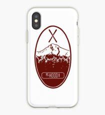 Mt. Hood -- Crimson iPhone Case