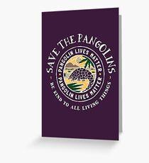 Pangolin lebt Angelegenheit, retten die Pangolins Grußkarte