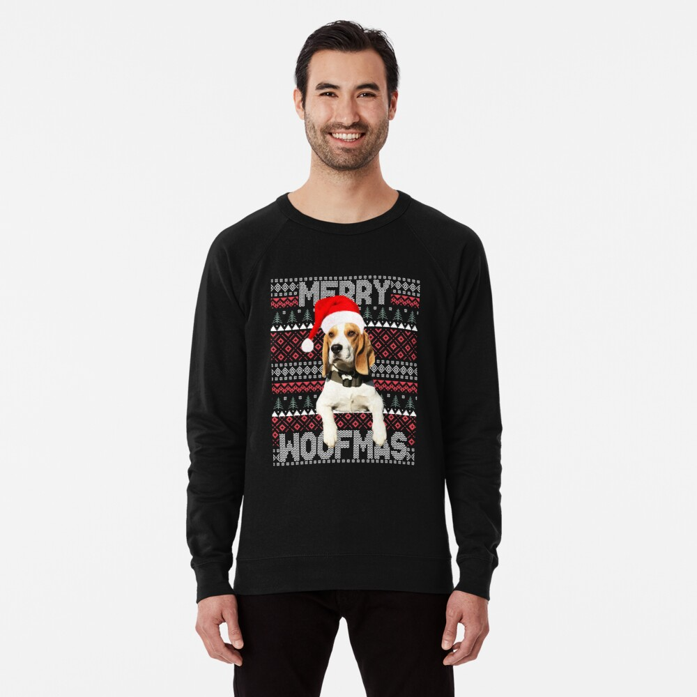6251b003ae838 Merry Woofmas Cute Beagle with Santa Hat