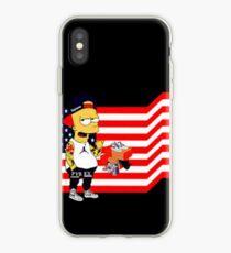 Cartoon and Flag iPhone Case