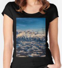 a historic Austria landscape Women's Fitted Scoop T-Shirt
