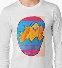 PEEK A BOO EASTER CHICK Long Sleeve T-Shirt