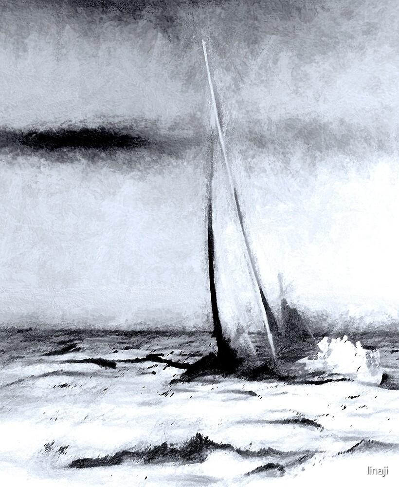 The Sea is Mighty by linaji