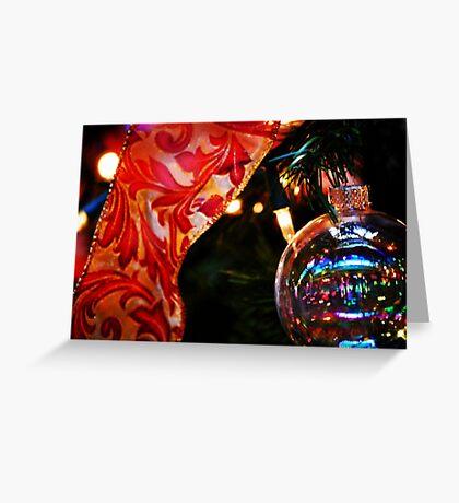 Ornament & Ribbon Greeting Card