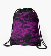 Purple Fire Drawstring Bag
