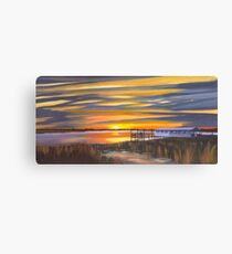 """ Bowens Island Sunset "" Charleston SC Canvas Print"