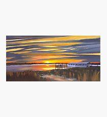 """ Bowens Island Sunset "" Charleston SC Photographic Print"