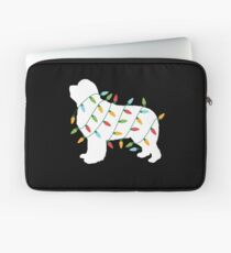 Christmas Lights Newfoundland T Shirt Gifts for Dog Lovers Laptop Sleeve