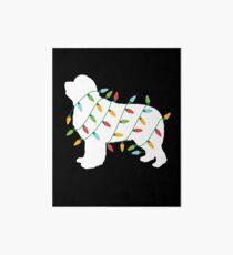 Christmas Lights Newfoundland T Shirt Gifts for Dog Lovers Art Board
