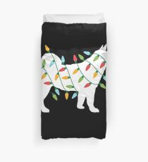 Christmas Lights Shiba Inu T Shirt Cute Gifts for Dog Lovers Duvet Cover