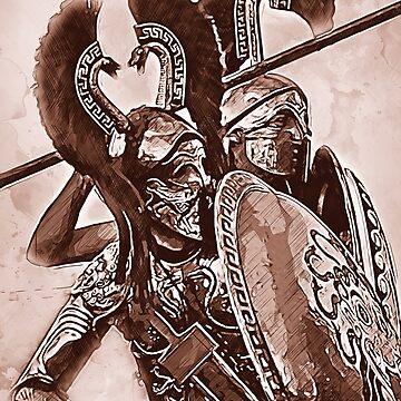 Spartan Hoplite by ErianAndre