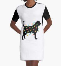Weihnachtslicht-Bluthund-T-Shirt Geschenke für Hundeliebhaber T-Shirt Kleid