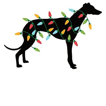 Christmas Lights Greyhound T-Shirt Cute Gifts for Dog Lovers by davdmark