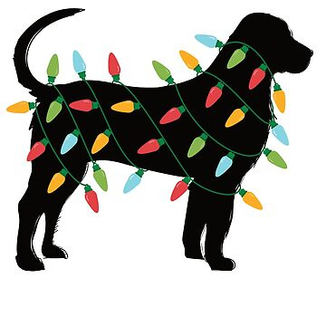 Christmas Lights Mastiff T-Shirt Cute Gifts for Dog Lovers by davdmark