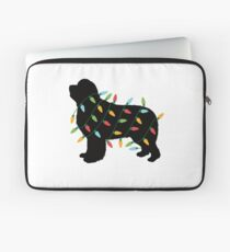 Christmas Lights Newfoundland T-Shirt Gifts for Dog Lovers Laptop Sleeve