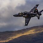 A Hawk T 2 takes the exit, Mach Loop, Dinas Mawddy Wales by Cliff Williams