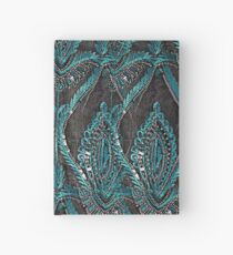 Black and turquise pattern Hardcover Journal