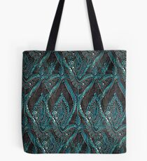 Black and turquise pattern Tote Bag