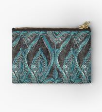 Black and turquise pattern Studio Pouch
