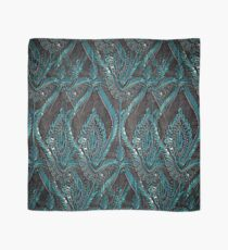 Black and turquise pattern Scarf