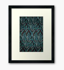 Black and turquise pattern Framed Print