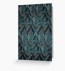 Black and turquise pattern Greeting Card